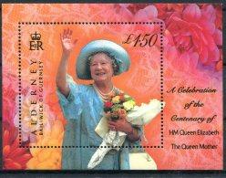 Alderney Queen Mother Miniature Sheet Unmount Mint - Alderney