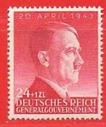 MiNr.102 Xx Deutschland Besetzungsausgaben II. Weltkrieg Generalgouvernement - Bezetting 1938-45