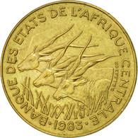États De L'Afrique Centrale, 5 Francs, 1983, Paris, SUP, Aluminum-Bronze, KM:7 - Cameroon