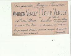 Buvard  AMIDON  VERLEY _COLLE VERLEY A L'Ours Blanc A MARQUETTE Les LILLE 59 - Wassen En Poetsen