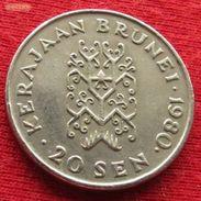 Brunei 20 Sen 1980 KM# 18 - Brunei