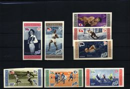 Dominican Republic 1956 Olympic Games Melbourne Olympic Winners  Imperforated Set Postfrisch / MNH - Dominican Republic