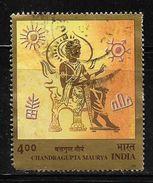 India 2001 Emperor Chandragupta Maurya 500p Used Stamp # AR:163 - India