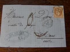Lot Du 19.08.17_LAC Des Paris ,les Batignolles,variétés Sur N°28,taxée,illustrées De 1868 - 1849-1876: Période Classique