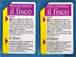(1Eu) USATA ° -  IL FISCO - Lire 5.000 + 10.000  C&C. 2268 - 2269 - TP.  Vedi Descrizione - Italy