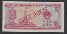 VIETNAM  1985  SPECIMEN    BANKNOTE  5HAO   Note N°AA 0000000  VERY FINE /TTB - Vietnam