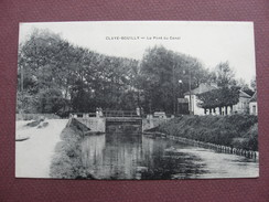 CPA 77 CLAYE SOUILLY Le Pont Du Canal ECLUSE Avec ANIMATION - Claye Souilly