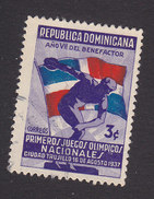 Dominican Republic, Scott #327, Used, Discus Thrower And Flag, Issued 1937 - Dominican Republic