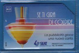 (1Eu) USATA ° -  SEAT - TROTTOLA- Se Ti GIRA Di COLPIRE -  C&C. 2273 - Mn.  Vedi Descrizione - Italy