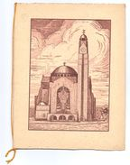 Programma Kunstconterto - Antwerpen 1934 - Briffaux - Christiane - Beets ... - Gravure Paul Delormoz - Programs