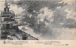 TURQUIE - Militaria - 1914-15 - AUX DARDANELLES - Bombardement Du Bosphore Par Les Cuirassés Russes - Turchia