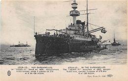 TURQUIE - Militaria - 1914-15 - AUX DARDANELLES - Le HENRI IV Lancé En 1899 - Turchia