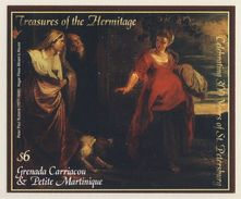 "Grenada Carriacou & Petite Martinique 2003 ** ""Hagar Flees Abram's House"" By Peter Paul Rubens / Gemälde- Hermitage - Religie"