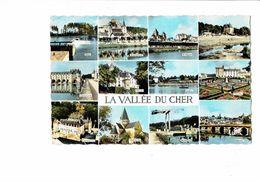 Cpm - 41- Vallée Du Cher Blere Selles Villandry Mennetou Montrichard Chissay Vierzon - 1965 - France