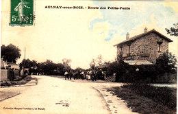 AULNAY SOUS BOIS Route Des Petits Ponts Belle  Cpa Colorisée Et Animée Circulée  Bon état Voir Scans - Aulnay Sous Bois