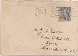 Ceskoslovensko Czechoslovakia Cover Circulated 1949 - Moçambique - Cancel Beira - Label Universitas Carolina Pragensis - Tchécoslovaquie