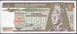 Guatemala 1/2 Quetzal 1988  P65 UNC - Guatemala