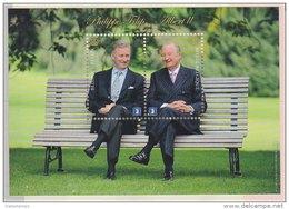 2013 - Bl 210 - XX - Luxekaart: Troonsafstand Koning Albert II / Abdicaticon Du Roi Albert II - Blocks & Sheetlets 1962-....