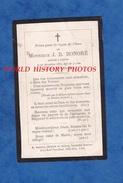 Faire Part De Décés De 1877 - CARVIN - Monsieur J. B. HONORé - Généalogie Nord Pas De Calais - Décès