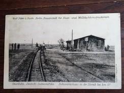 CPA NAMIBIA : DEUTSCH SUDWESTAFRIKA : OTAVIBAHN Bahnwäterhaus In Der Namib Bei KM 57, 2 Stamps - Namibie
