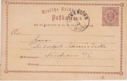 Germany-1874 1/2 Groschen Brown Postal Stationery Postcard Loneburg Cover - Germania