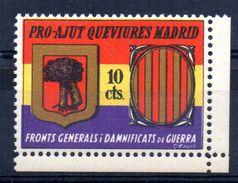 Viñeta Politica Nº 2346/987  Pro-ajut Que Viures Madrid. - Viñetas De La Guerra Civil