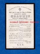 Faire Part De Décés De 1889 - SECLIN - Madame Henriette Joseph GRAUWIN Veuve D' Antoine CARON - Nord Généalogie - Obituary Notices