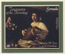 "Grenada 2003 Mi B716 ** ""The Lute Player"" / Der Lautenspieler By Caravaggio / Gemälde- Hermitage - Arts"