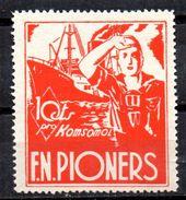 Viñeta Politica  Nº 2398/1034   Pro Komosol  F.N Pioners. - Viñetas De La Guerra Civil