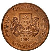 Singapour, Cent, 1989, British Royal Mint, SUP, Bronze, KM:49 - Singapour