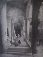 Lithographie De Chapuy,intérieur D'une Maison Rue Juiverie à Lyon - Lithographies