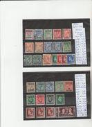 TIMBRE DE MAROC BUREAUX ANGLAIS TOUT LES BUREAUX  VOIR NR SUR PAPIER ACCONPAGNANT LES TIMBRES  OBLITEREES COTE 37.55&eur - Mauritius (...-1967)