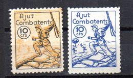 Viñeta  Politica  Nº 2508/9 1126   Ajut Combatents. - Verschlussmarken Bürgerkrieg