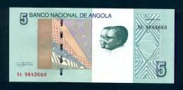 Banconota Angola - 5 Kwanzas - UNC - Angola
