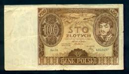Banconota Polonia - 100 Slotych 1934 - Circolata - Poland