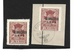 0956j: DR 1944, Feldpost Rhodos, Postfrisch Und Gestempelt, Feldpost WW II, Als Altfälschung Angeboten - Usados