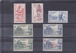 Dahomey N° 142 à 144,149 à 150, 153 à 154, 7 Valeurs Timbres Neufs ** - Dahomey (1899-1944)