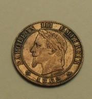 1862 - France - UN CENTIME, NAPOLEON III (K), Tête Laurée, KM 795.3, Gad 87 - A. 1 Centime
