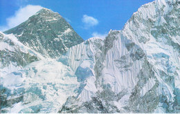 NEPAL - COLOUR PICTURE POST CARD - PEAKS OF HIMALAYA - MT. EVEREST - TRAVEL / TOURISM / MOUNTAINEERING - Nepal