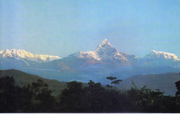 NEPAL - COLOUR PICTURE POST CARD - PEAKS OF HIMALAYA - ANNAPURNA HIMAL - TRAVEL / TOURISM / MOUNTAINEERING - Nepal