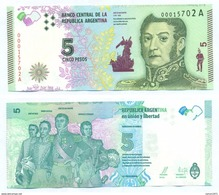 Argentina - 5 Peso 2015 UNC - Argentina