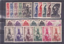 Dahomey N° 120 à 141 Série De 22 Timbres Oblitérés - Dahomey (1899-1944)