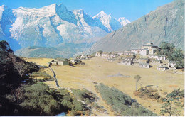 NEPAL - COLOUR PICTURE POST CARD - PEAKS OF HIMALAYA - THYANGBOCHE TEMPLE & KWANGDE - TRAVEL / TOURISM / MOUNTAINEERING - Nepal