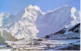 NEPAL - COLOUR PICTURE POST CARD - PEAKS OF HIMALAYA - TAMSELKU, KANGTEGA - TRAVEL / TOURISM / MOUNTAINEERING - Népal