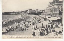 Biarritz   La Plage Et Le Casino Municipal - Biarritz