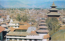 NEPAL - COLOUR PICTURE POST CARD - KATHMANDU, BIRD'S EYE VIEW - TOURISM / TRAVEL THEME - Nepal