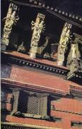 NEPAL - COLOUR PICTURE POST CARD - WOOD CARVING, KATHMANDU - TOURISM / TRAVEL THEME - Nepal