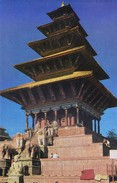 NEPAL - COLOUR PICTURE POST CARD - NYATAPOLA TEMPLE, BHAKTAPUR - TOURISM / TRAVEL THEME - Nepal