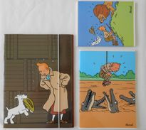 TINTIN Lot Porte Documents Et Cahiers Moulinsart 2004 - Livres, BD, Revues