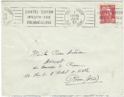 Marianne De Gandon (n° 813) Obliteration Chatel Guyon Flamme A Texte - France